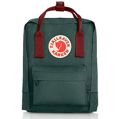 Fjallraven kanken mini backpack - forest green/ox red