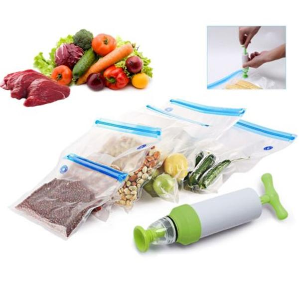 Ipree 5 pcs storage bags vacuum food sealer packaging manual