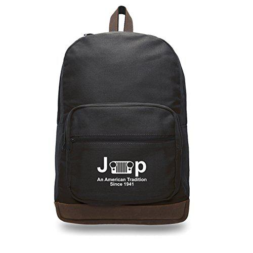 Jeep an american tradition teardrop backpack leather accents