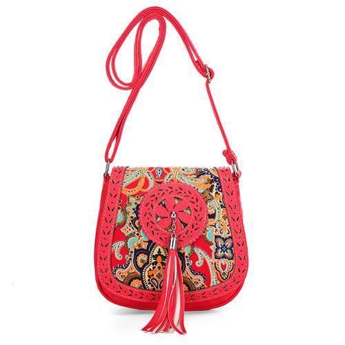 National style women bag brand designer handbag tassel