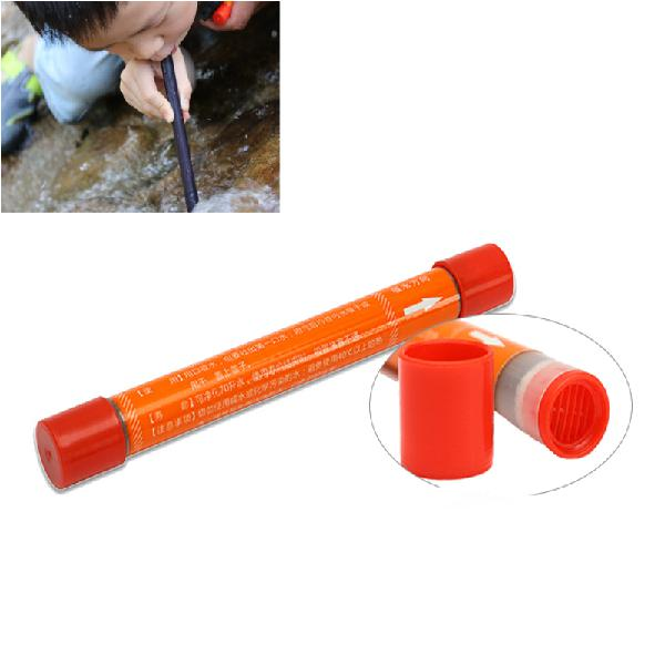 Portable 70l straw water purifier camping hiking outdoor