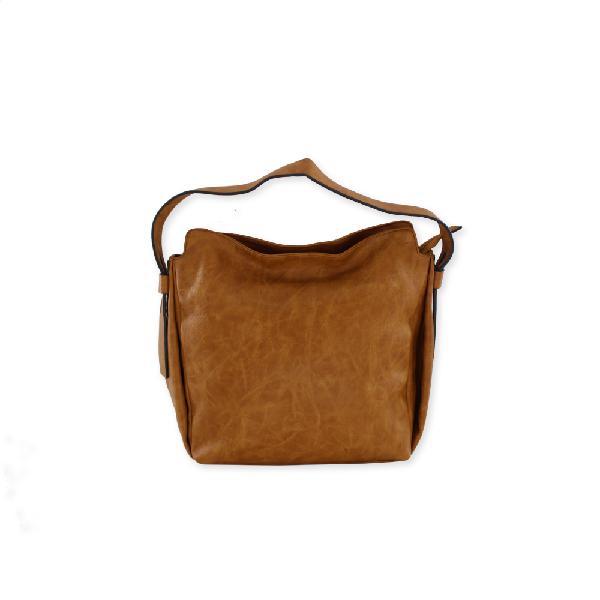 Retro caramel leather handbag |116