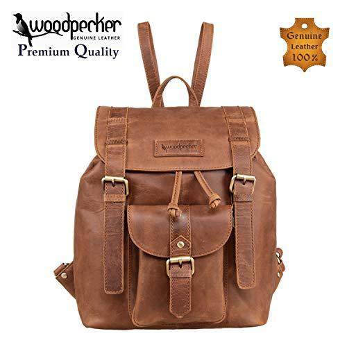 Woodpecker top quality full grain real cowhide leather men
