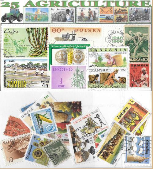 CHARITY STAMP PACKET AGRICULTURE 1x25 STAMPS USED