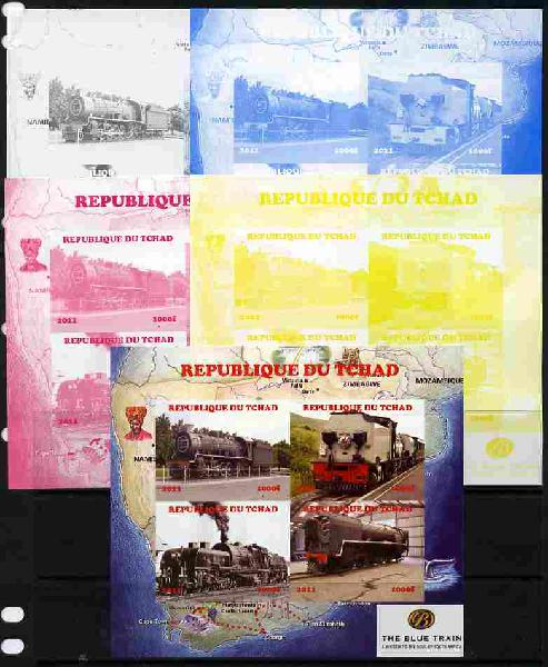 Chad 2011 Steam Locomotives #2 sheetlet containing 4 values