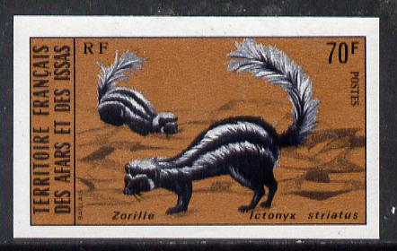 French afars & issas 1975 wild animals (3rd series) 70f
