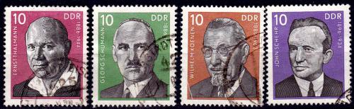 GERMANY DDR 1976, 13 Jan. Personalities of the Labour