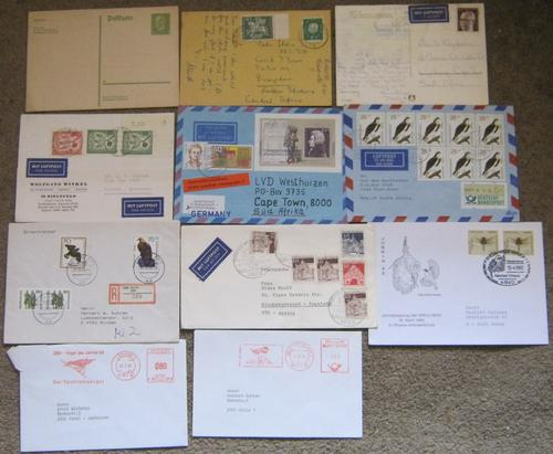 German covers & post cards x 11