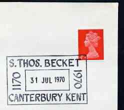 Postmark - great britain 1970 cover bearing special