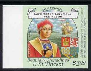 St vincent - bequia 1988 explorers $3.00 (christopher