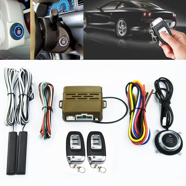 Car alarm system pke keyless entry push button engine