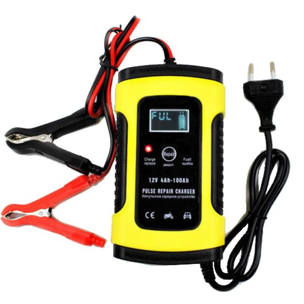 Foxsur 12v 5a pulse repair lcd battery charger for car
