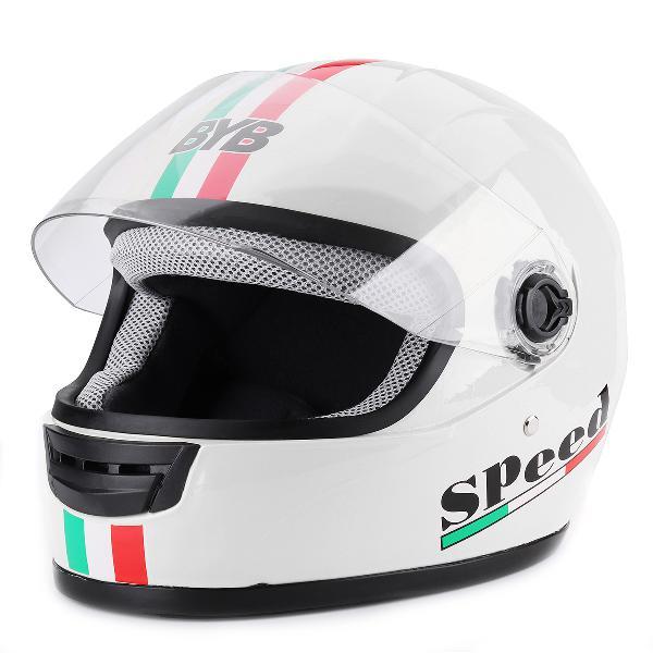 Full face motorcycle helmet dot flip up modular dual visor