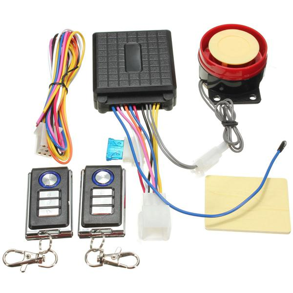 Motorcycle anti theft security alarm remote control sensor
