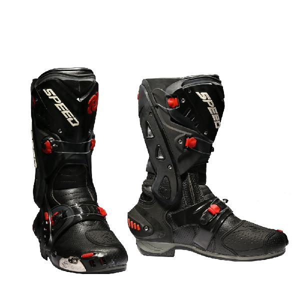 Motorcycle boots racing speed cycling safety shoes pro-biker