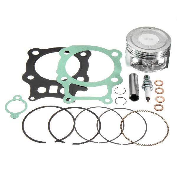Piston rings gasket spark plug kit set for honda rancher