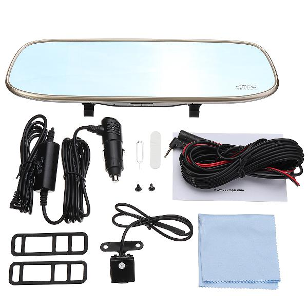 A650 7 Inch 1080P Touch Screen LCD Display Car DVR