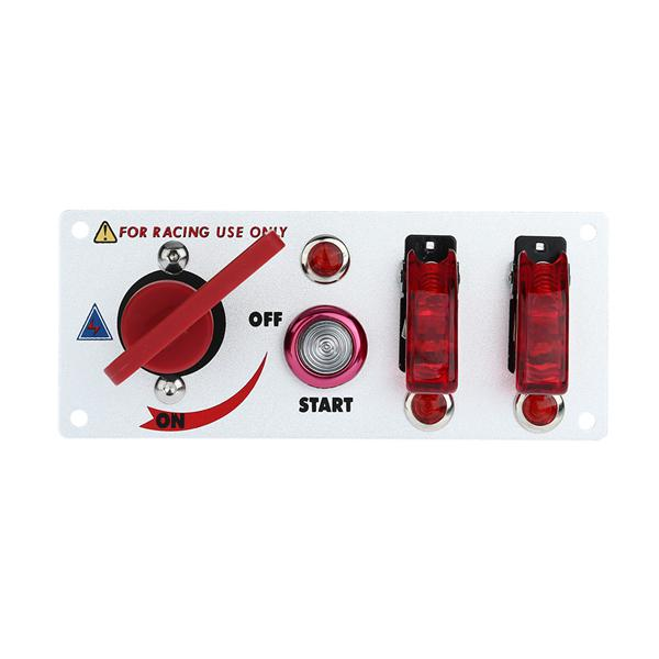 Car Modified Start Ignition Switch Two Rockers Switch Panel