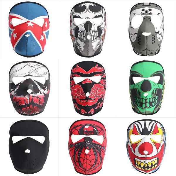 Full face mask motorcycle reversible biker skateboard scary