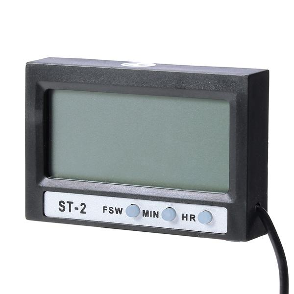 Household lcd display digital thermometer clock auto