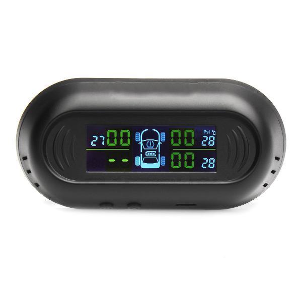 Solar wireless lcd tpms car tire tyre pressure monitor