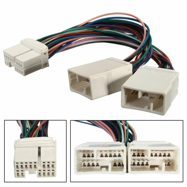 Y cable splitter for aux cd changer navigation xm radio ipod