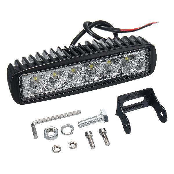 12v 18w 6led waterproof led headlights flood work light
