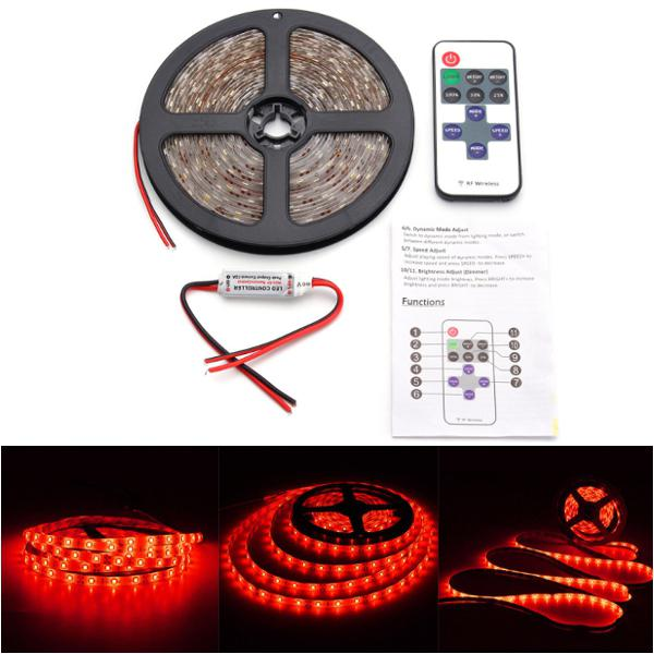 12v 5m 300led wireless waterproof led strip light 16ft for