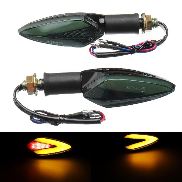 12v motorcycle led turn signal brake lights taillight amber