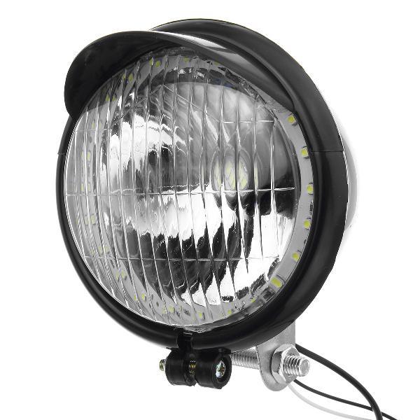 12v retro led motorcycle bullet white headlights hi/low beam