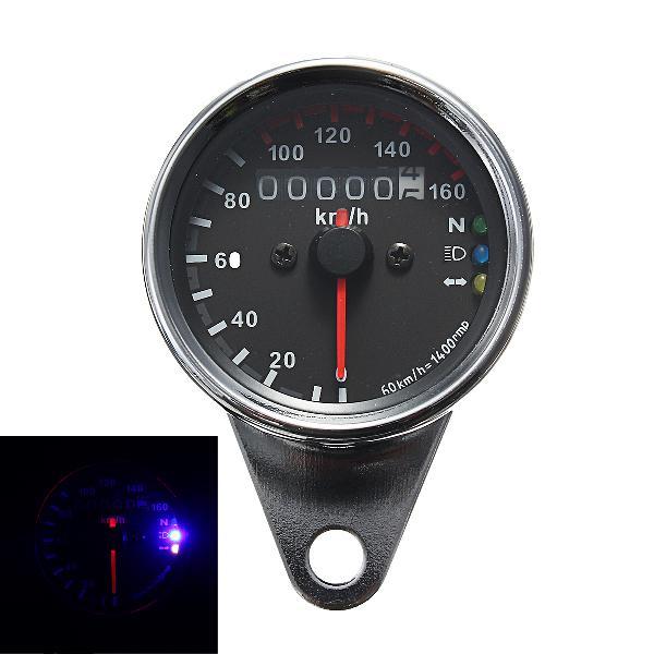 12v universal motorcycle odometer kmh speedometer gauge led