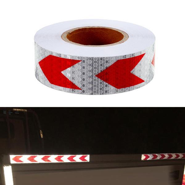 36m arrow sticker red white night reflective sticker safety