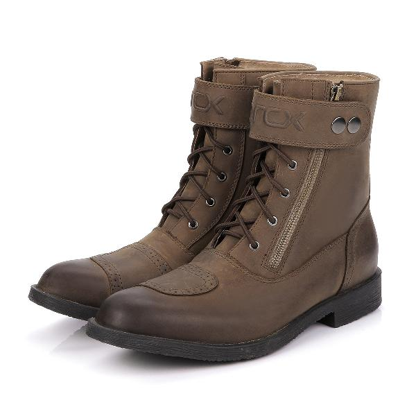 Cow leather motorcycle leisure pointed shoes riding boots