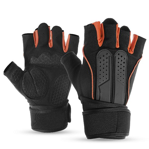 Half finger racing weight lifting gym gloves workout wrist