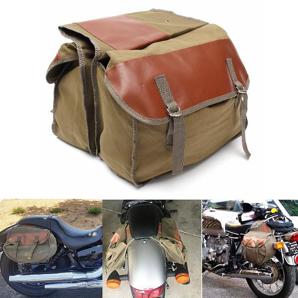 Motorcycle canvas saddlebags equine back pack for haley