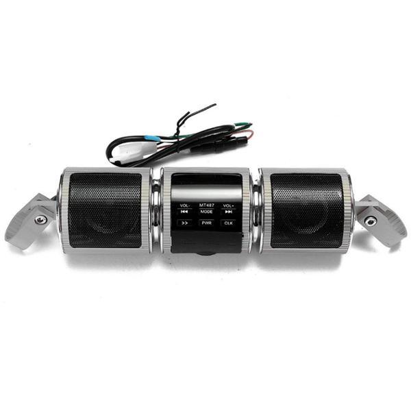 Motorcycle handlebar stereo mp3 speakers waterproof player