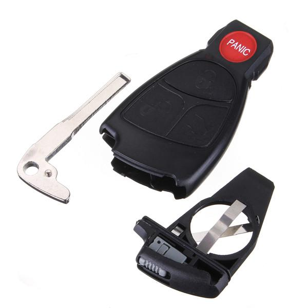 Remote keyless smart key fob case shell with battery holder