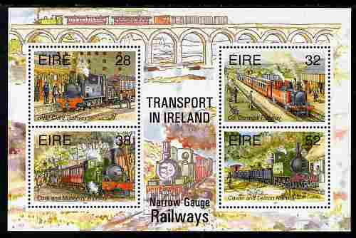 Ireland 1995 narrow gauge railways perf m/sheet unmounted