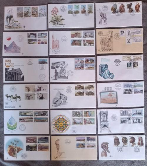 Swa lot of 39 fdc's - from fdc 26 to fdc 66 (1979 - 1989)
