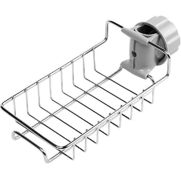 Stainless steel sink tap faucet storage holder rack bathroom