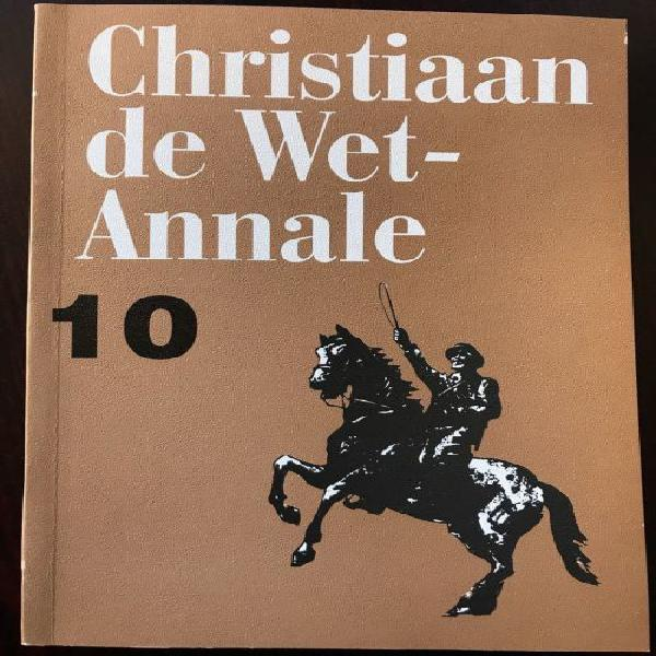 Boer war -christiaan de wet annale nr 10-1st edition