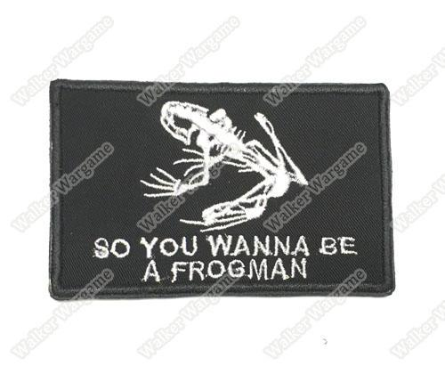 Wg031 seal team frog man patch with velcro - full colour