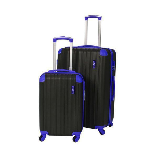 Eco Earth San Juan 2 Pc ABS Luggage Set | Black/Blue