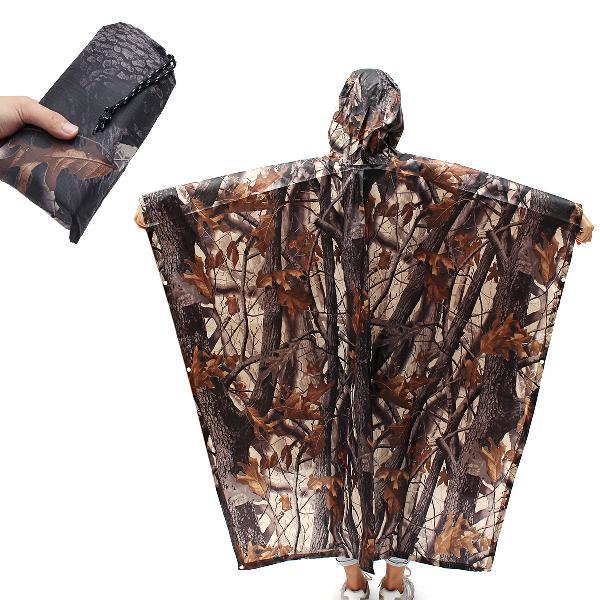 Ipree 220x145cm 3 in 1 hiking pocket poncho portable rain