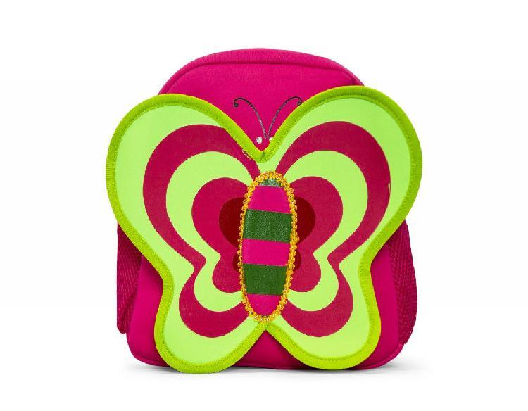 Kids neoprene backpacks - butterfly pink