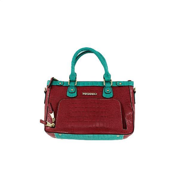 Modern Croc Embossed Leather Handbag |120