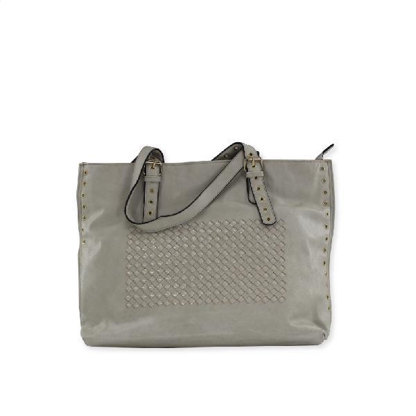 Modern Island White Leather Handbag |123