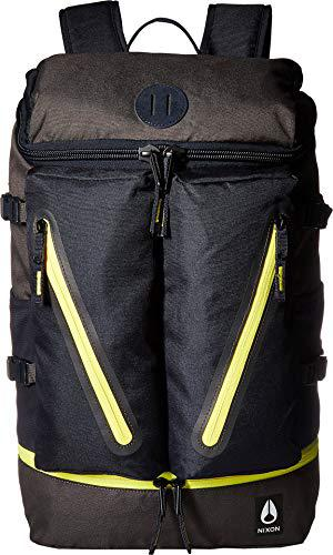 Nixon Men's Scripps Backpack II Black/Dark Olive/Volt One