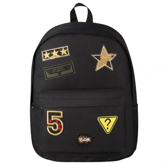 Playground Badges Boys Backpack Black