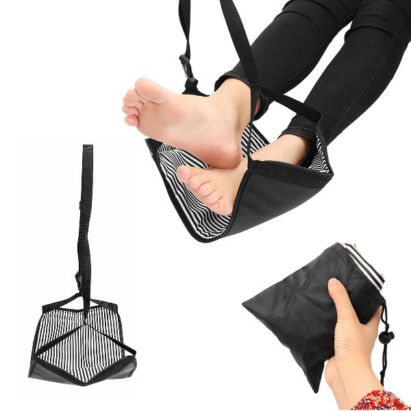 Portable Travel Cotton Knitted Footrest Flight Carry-on Foot